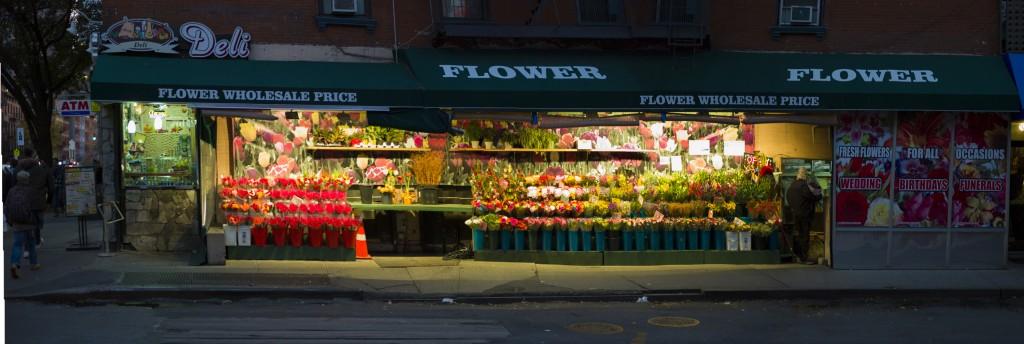 Flower Shop by Night in New York