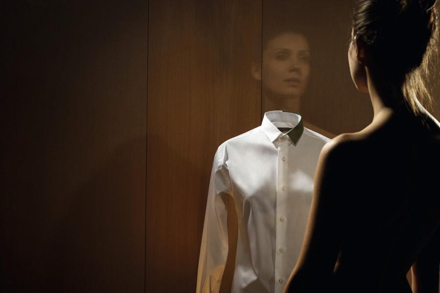 Chemise femme reflet