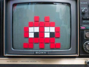 Pixel Art écran cathodique