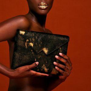 Pochette Luxe Noir & Or Zashadu