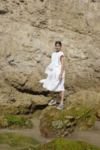 Robe blanche mode éthique