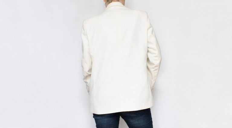Monopole Preloved Clothing Vintage White Jacket