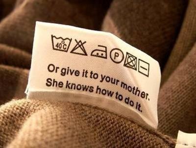 Entretien vêtements Clothing care