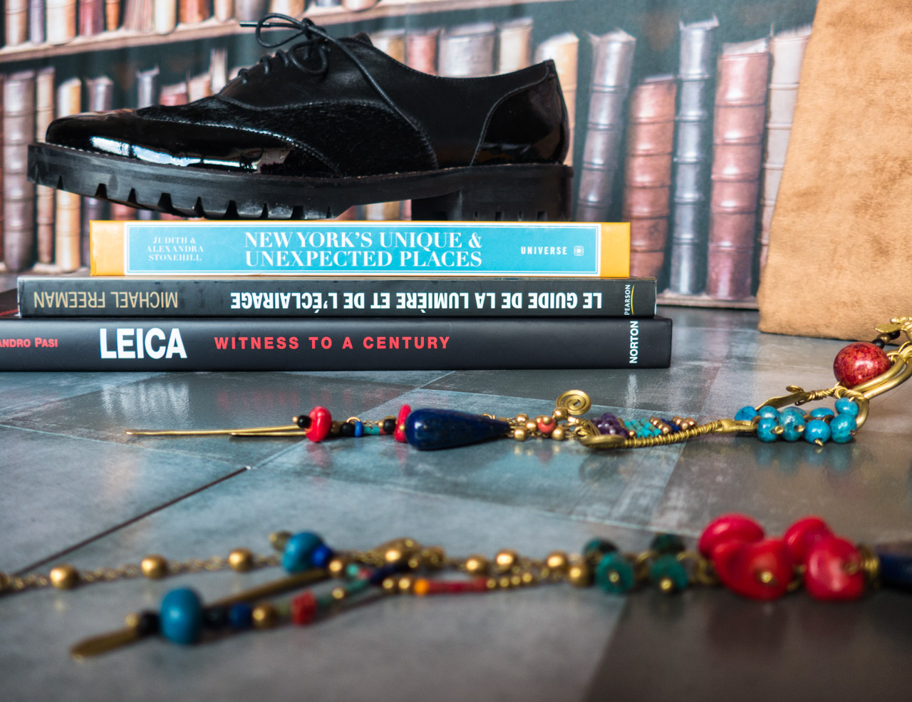 Maurice Manufacture shoes leica book statement necklace