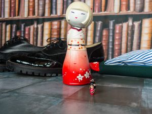 Kokeshi japanese doll necklace outfit