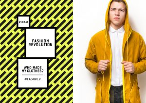 Fashion Revolution Day Posters Yellow