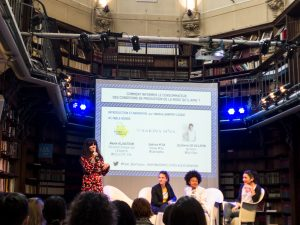 Conference Fashion Revolution Day Sakina M'sa Collectif éthique sur l'étiquette Quitterie De Villepin