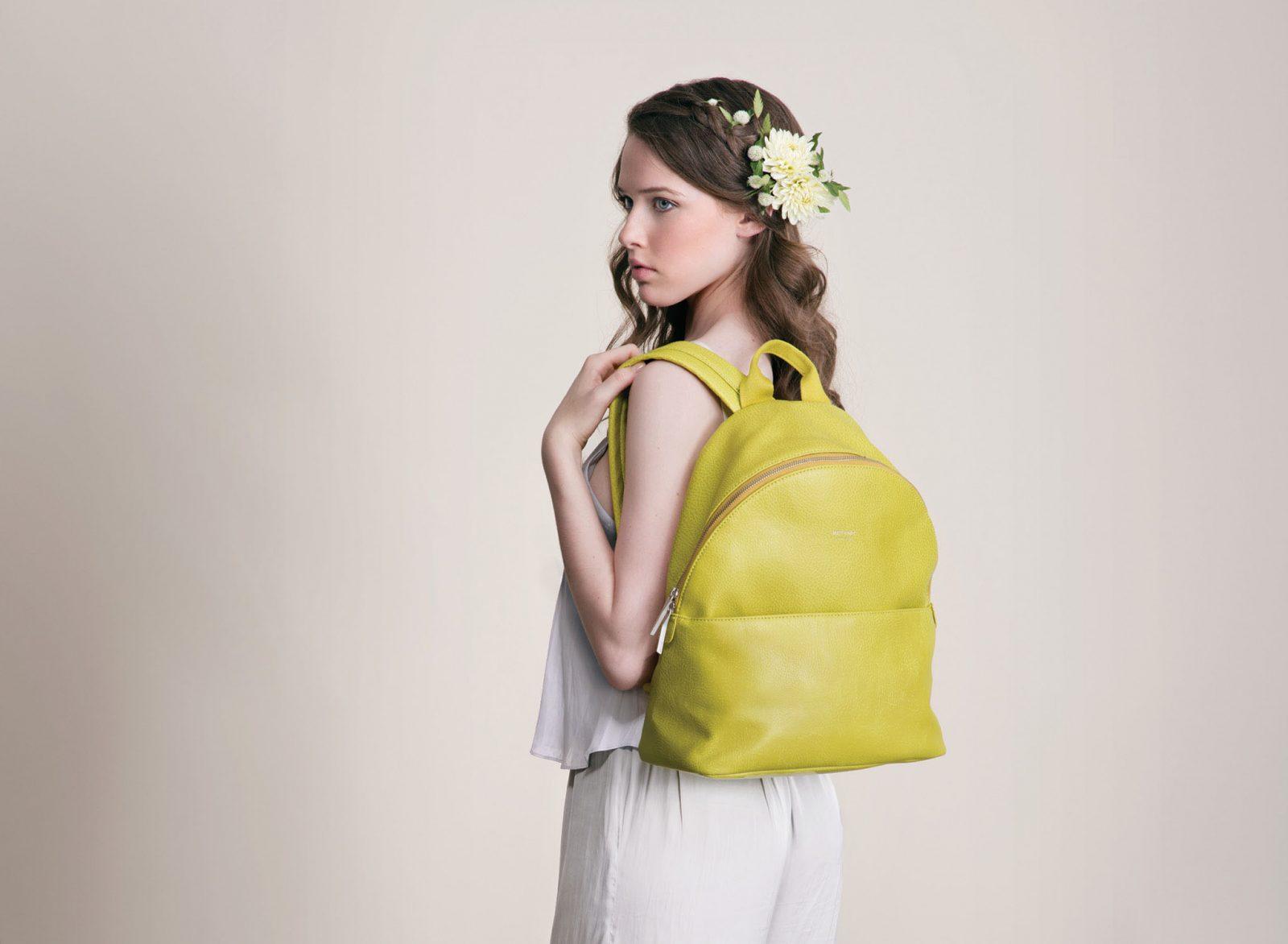 Matt and Nat vegan yellow backpack