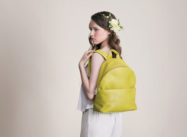 Matt and Nat vegan yellow backpack