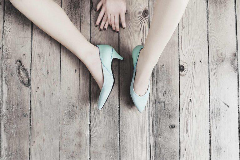 Ateliers Tersi Gontran Cherrier L'impertinente escarpins vert d'eau stilettos