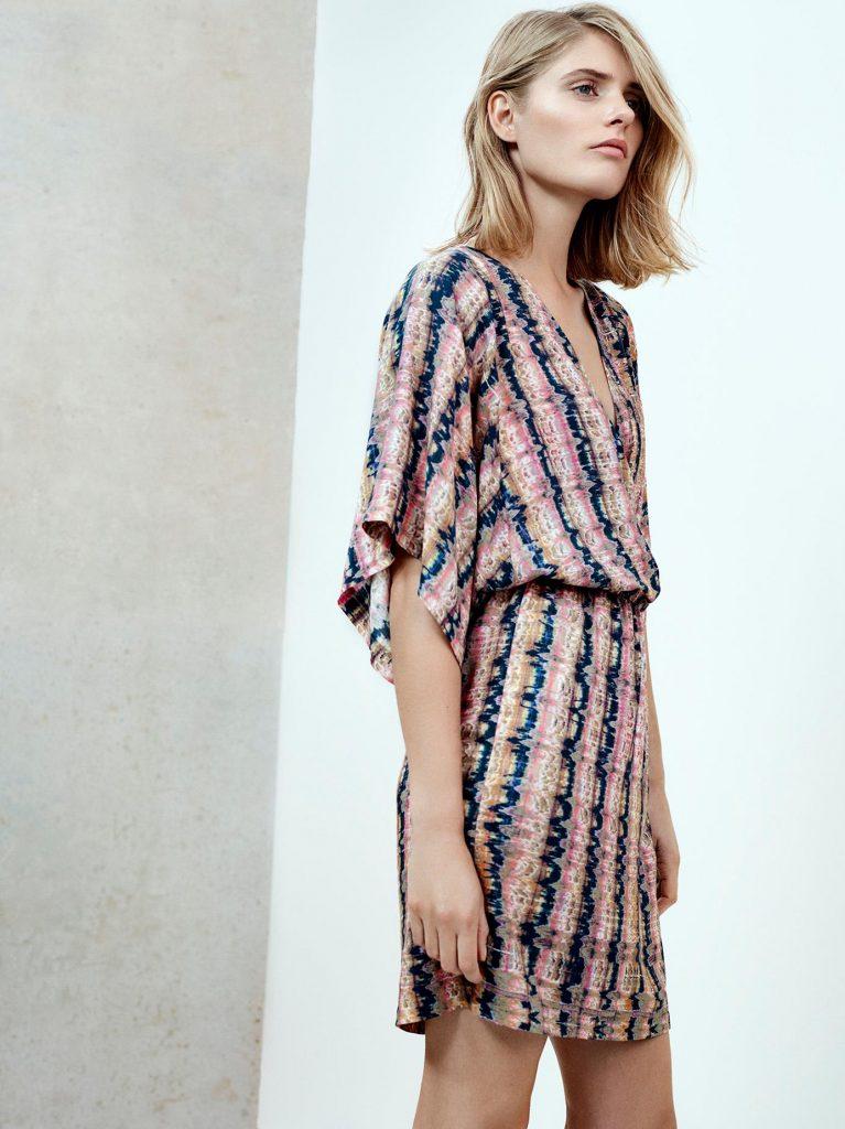 Filippa wrap print dress sustainable fashion