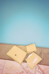 Tammy and Benjamin SS15 handbags made in France yellow