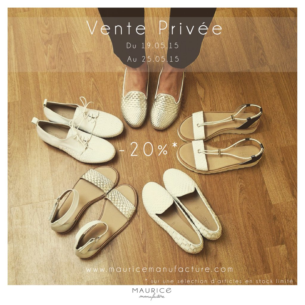 Vente privée Maurice Manufacture SS15 chaussures made in France