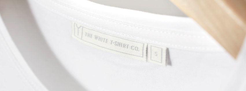 The white T-shirt Company detail close-up label