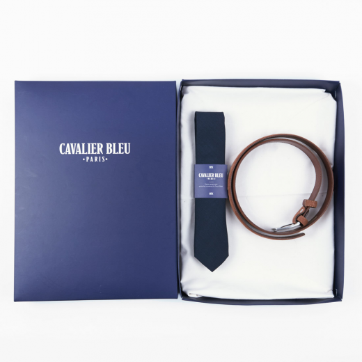 Cavalier Bleur coffret dandy dad cravate