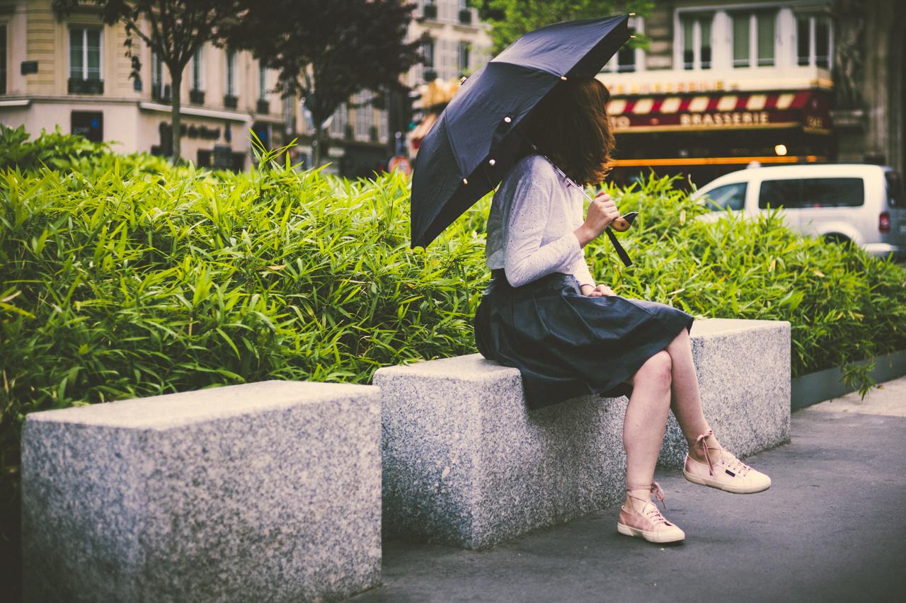 city-ballerina-rain-skirt-leather-paris-vintage