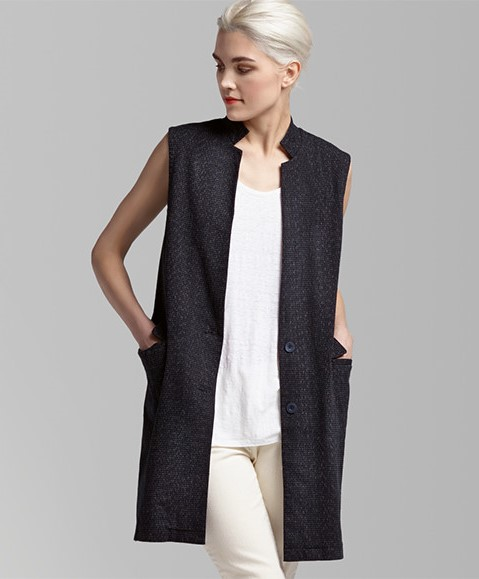 Eileen Fisher Summer Vest Organic Cotton
