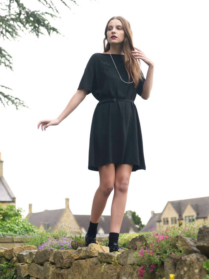 Outsider T-shirt dress Black Organic