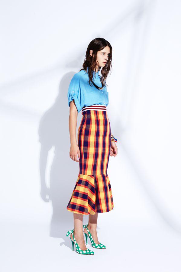 Stella Jean ss15 check skirt