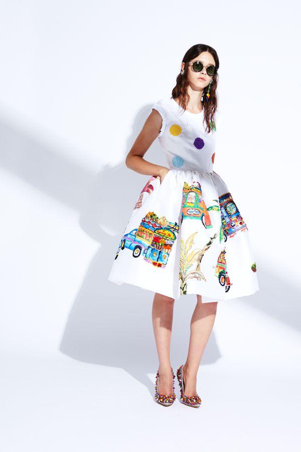 Stella Jean ss15 skirt dots