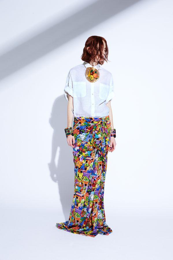 Stella Jean SS15 maxi skirt