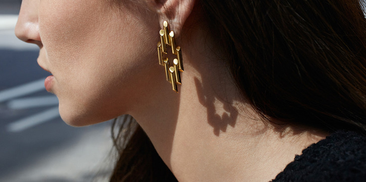 Maiyet ethical fashion earrings gold