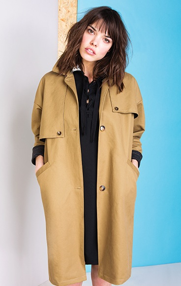 Suzie Winkle Trench Fred made in france aw15