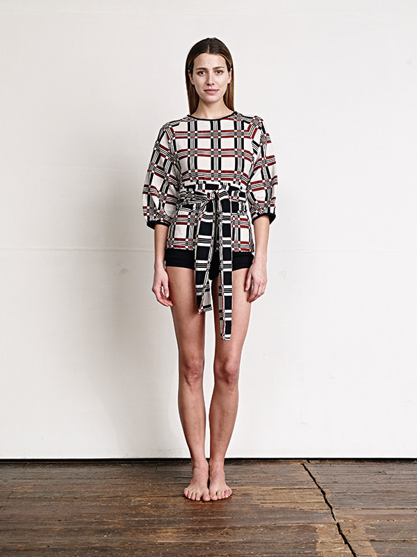 Ace and Jig Luna Blouse Textile Pattern Made in India
