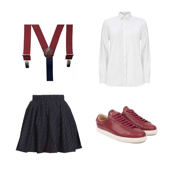 outfit harpe paris jupe college made in france slow fashion