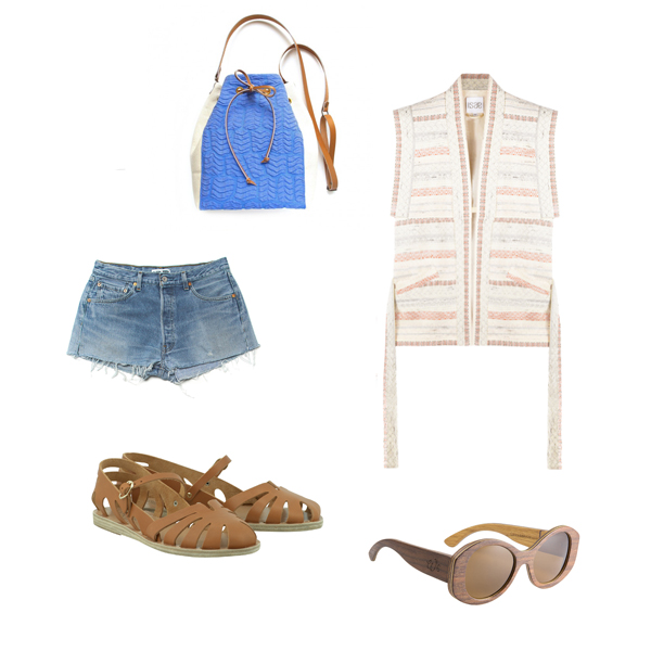Outfit look Ancient Greek Sandals Redone Issiba Isae Woodluns