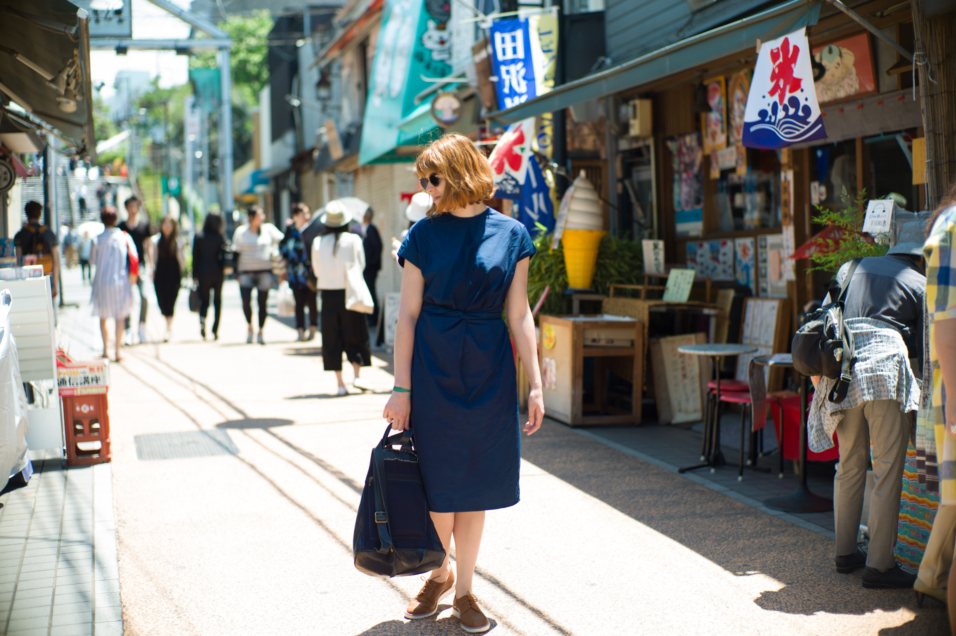 Look Blue Dress Indigo Tokyo Holidays