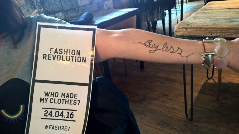 Fashion Revolution Party 2016 tatouages éphémères
