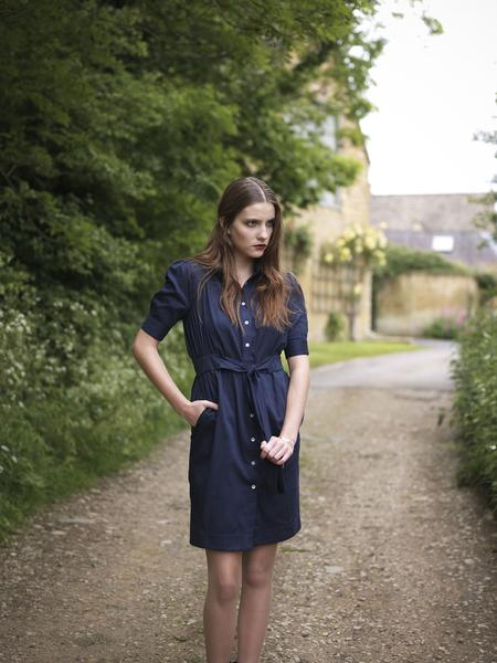 shirt dress collection outsider sustainable fashion organic cotton cotswolds