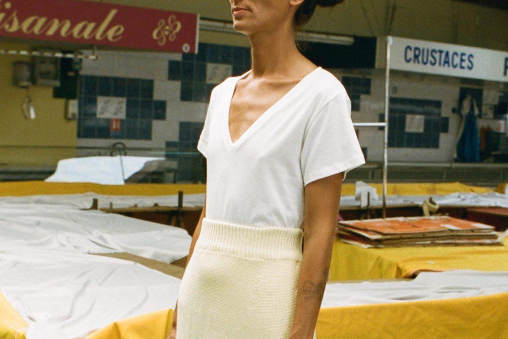 Baserange organic cotton white tshirt Sweet Summer Capsule