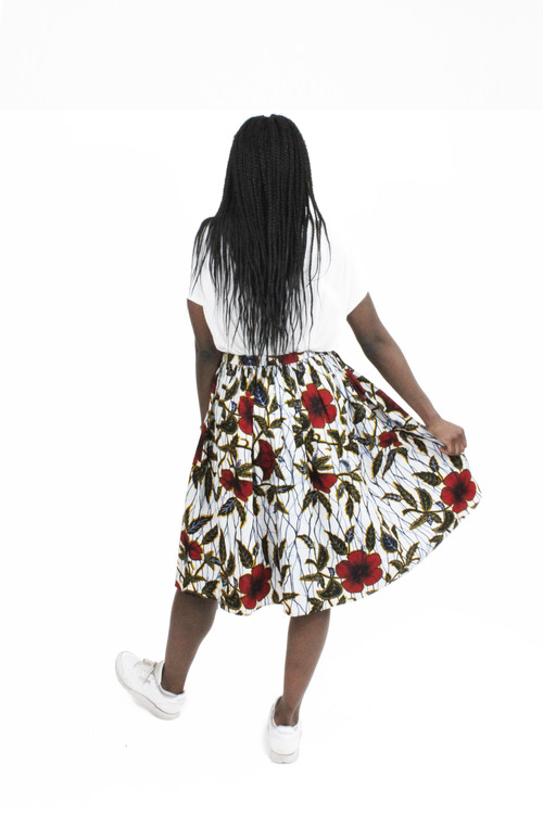 Maison Chateau Rouge Hibiscus skirt wax Sweet Summer Wardrobe