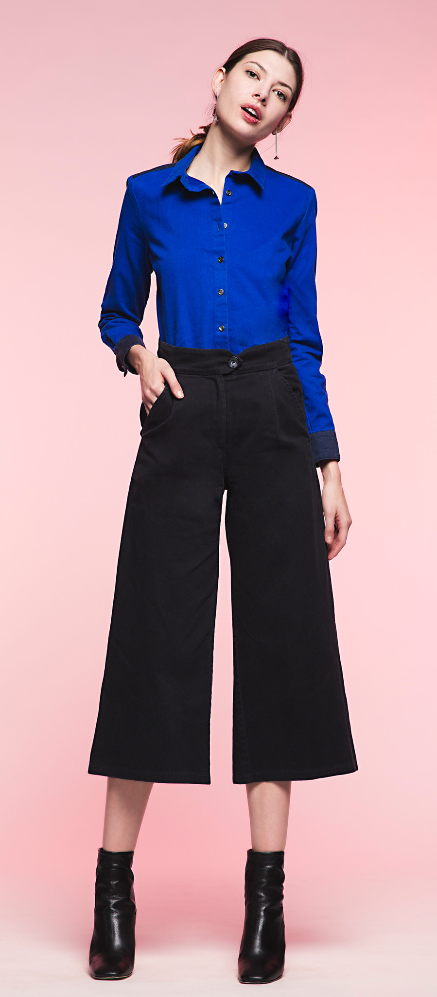 Loup denim culotte made in NYC
