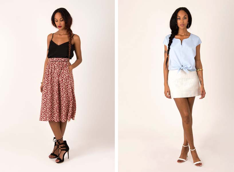 Skirt Laure Derrey Collections midi
