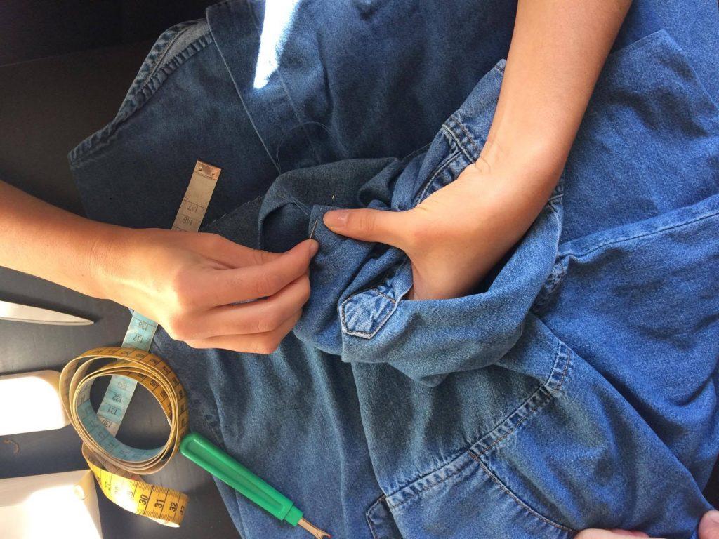 Wylde création pièce unique vintage chemise jean Levis