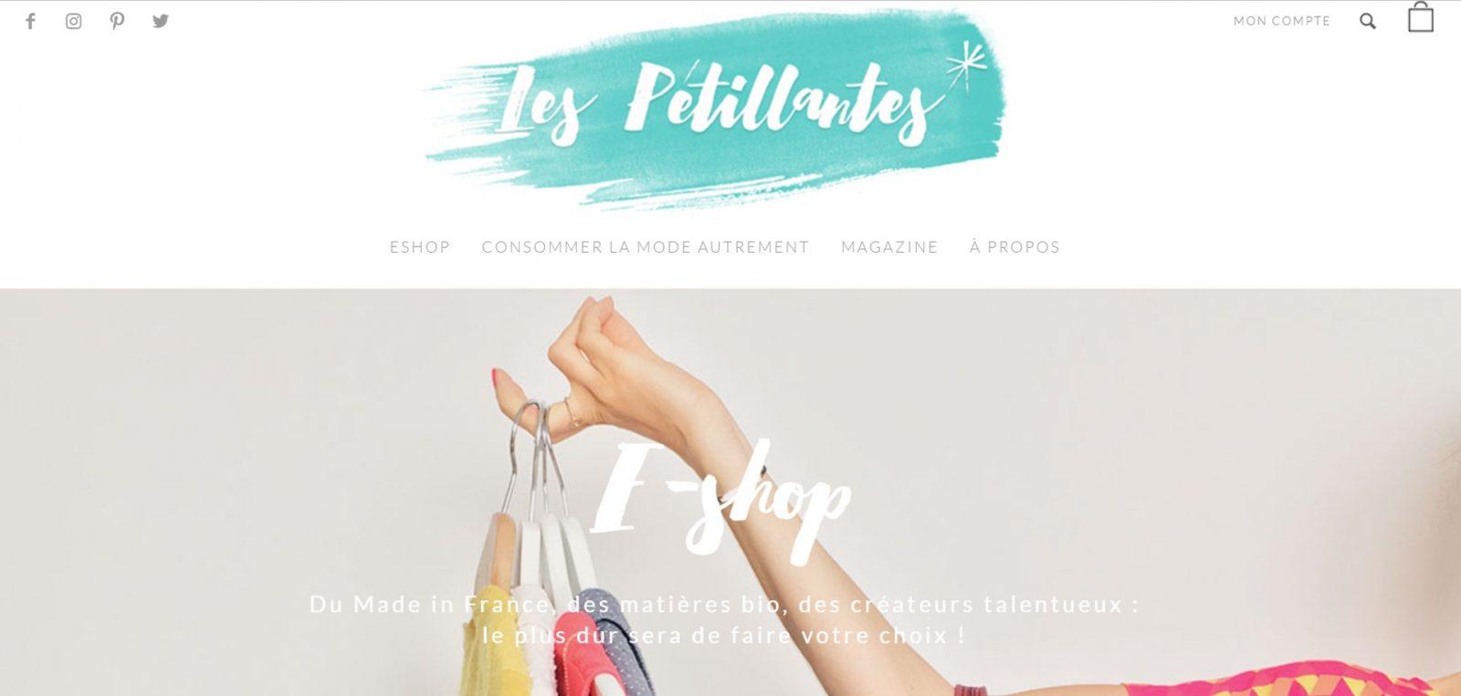 Les pétillantes boutique en ligne mode éthique
