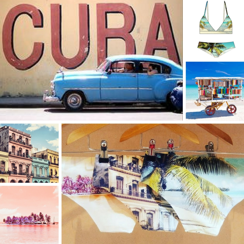 Esquisse inspiration moodboard cuba collection made in france