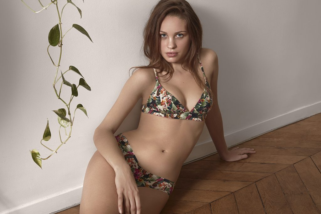 Esquisse collection tropical lingerie oeko tex