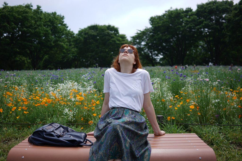 poppy field hylla tokyo showa memorial park ootd