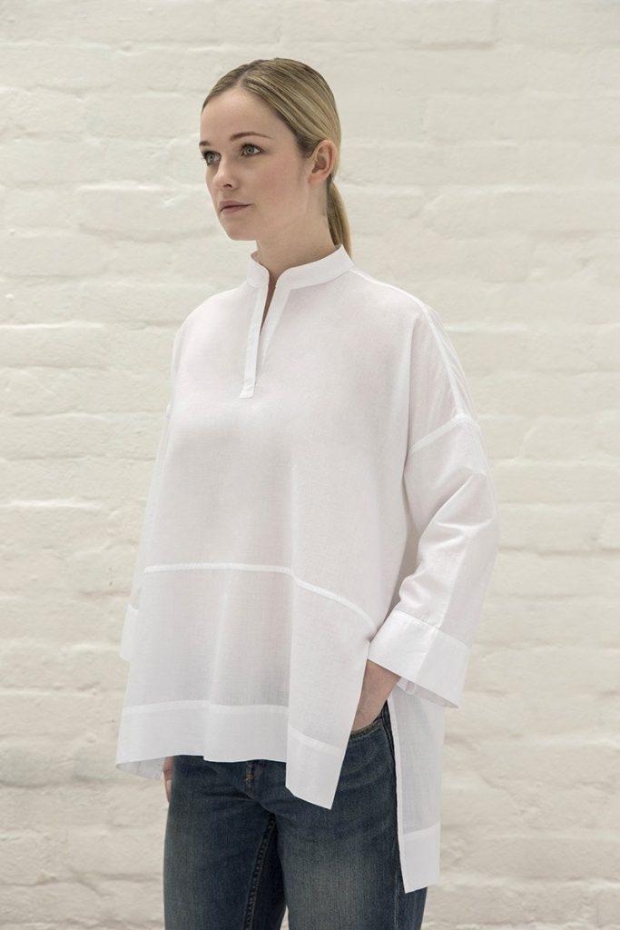 Chemise blanche coton bio Henri London été 2017