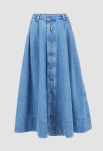 Kings of Indigo denim midi skirt selection soldes