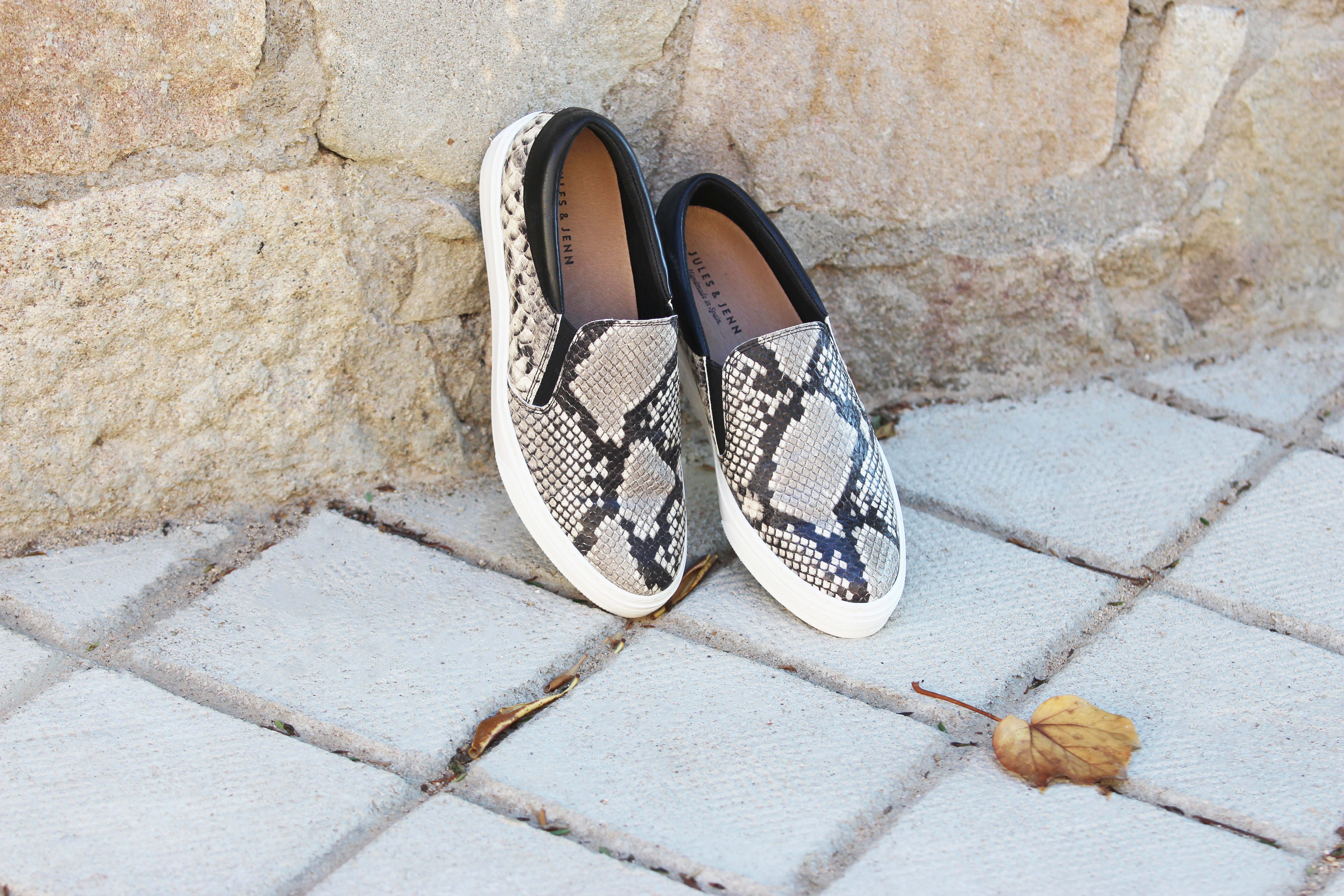 Jules & Jenn les collections chaussures femme slippers python