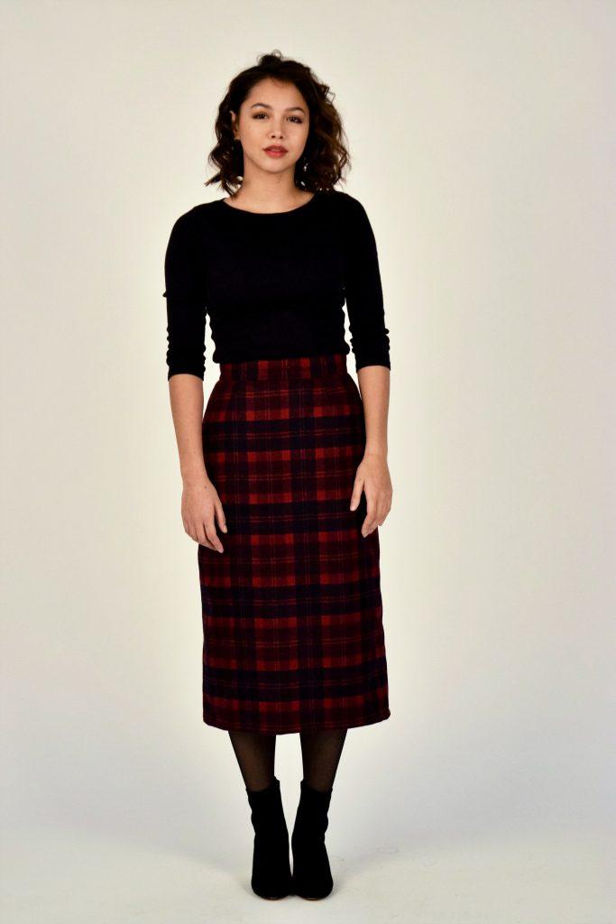 Soo Mee midi dress tartan scotland