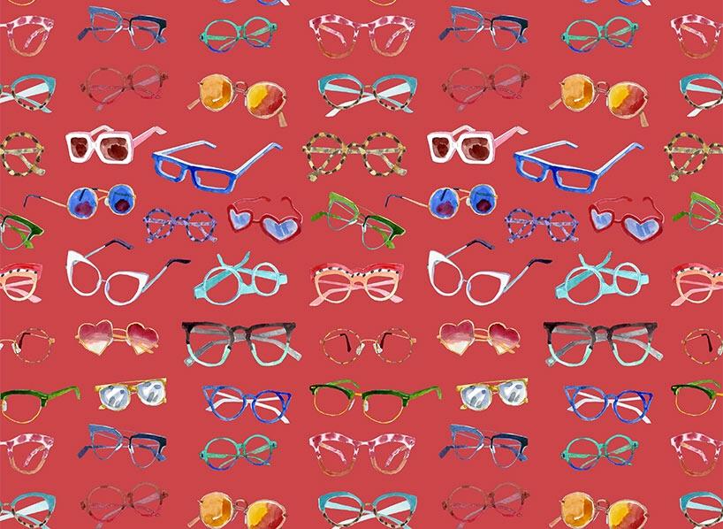 Bleu tango lunettes motif collection SS19