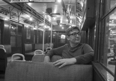 The male perspective black and white New York Metro